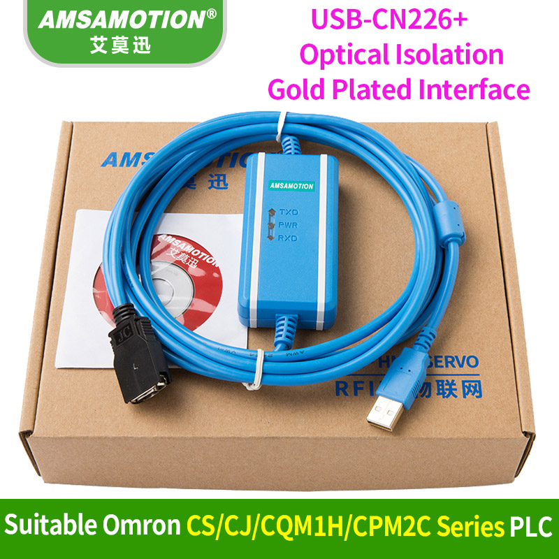 Usb 2.0 New Smart Usb-xw2z-200s-cv Programming Cable For Omron Plc Support Win7