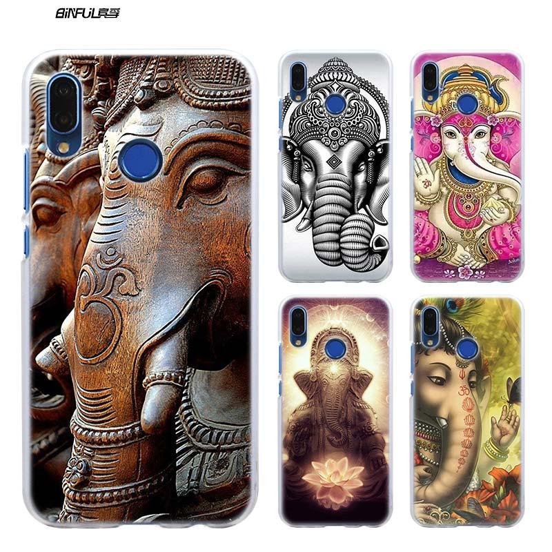 BiNFUL Ganesha The Hindu God Ganesh Case Cover for Huawei P Smart Nova 3i P8 P9 P10 P20 lite Pro P9 lite mini 2017 Hard Plastic