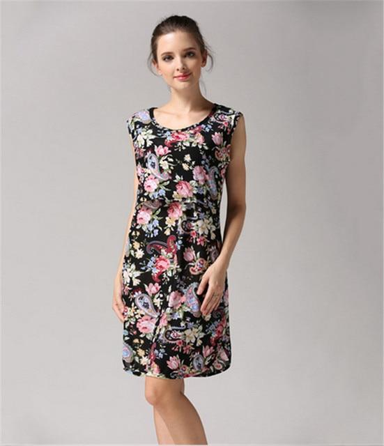 e166e74ae588 EL BEBE OSO Maternity Floral Breastfeeding Dress Summer Nursing ...