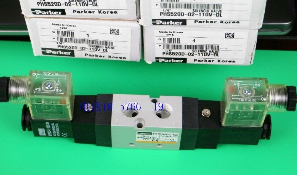 PHS520D-02-110V-D NEW PARKER  SOLENOID VALVE 1.0-9 BAR  0.1~0.9MPa phs520d 02 110v d new parker solenoid valve 1 0 9 bar 0 1 0 9mpa