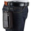 2017 Nuevos Hombres de la Moda piel de Vaca Cuero Genuino Fanny bolso de La Cintura Caso de Cigarrillos Del Bolsillo Monedero de La Cintura Cinturón de Gancho Bolsa
