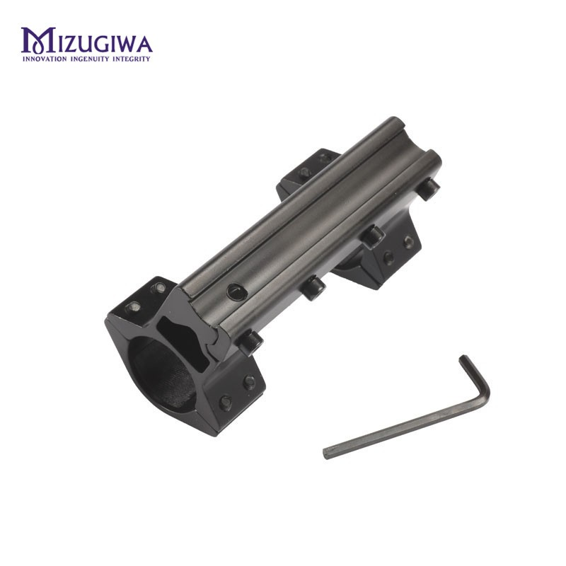 MIZUGIWA Tactical 25.4 mm One Piece Double Scope Rings Higher Mount Dovetail Ring 11mm Weaver Rail Pistol Airsoft Adapter