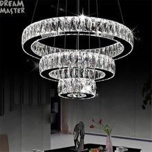 Современные светодиодные люстры с длинными кристаллами кольцевая