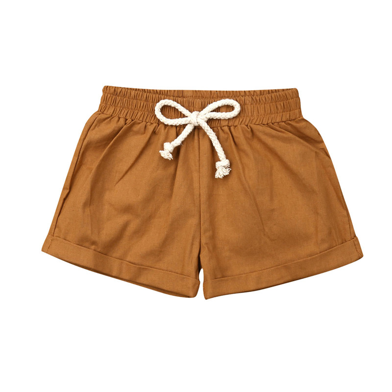 0-3T Casual Summer Baby Boys Cotton Linen Elastic Waist PP Pants Bloomers   Shorts   Nappy Cover Baby   Shorts   6 Colors