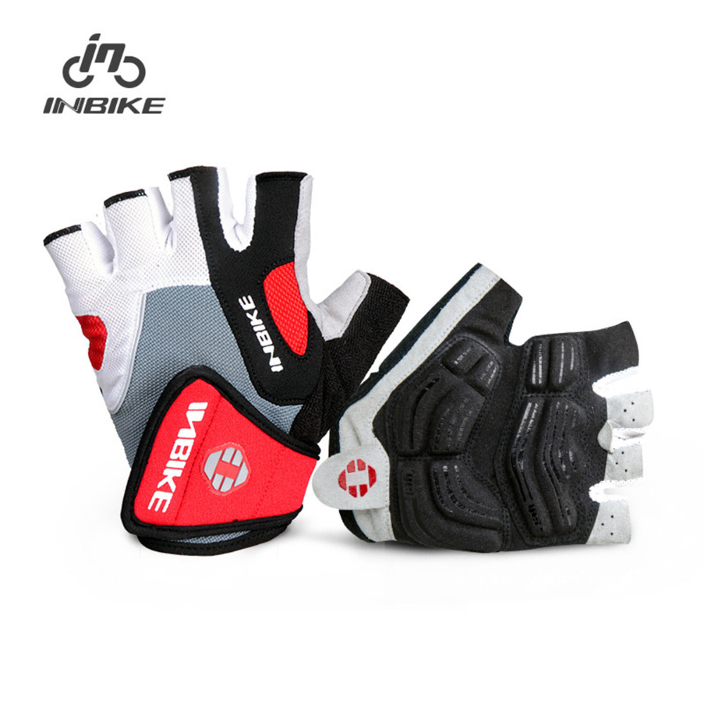 INBIKE Cycling Gloves Half Finger Bicycle Gloves Gel Pad sports guantes Breathable Outdoor MTB Road Racing Biking Mittens racmmer cycling gloves guantes ciclismo non slip breathable mens