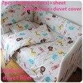 Promoção! 6 / 7 PCS Customize berço cama kit cama ao redor da cama de bebê cama colcha set, 120 * 60 / 120 * 70 cm