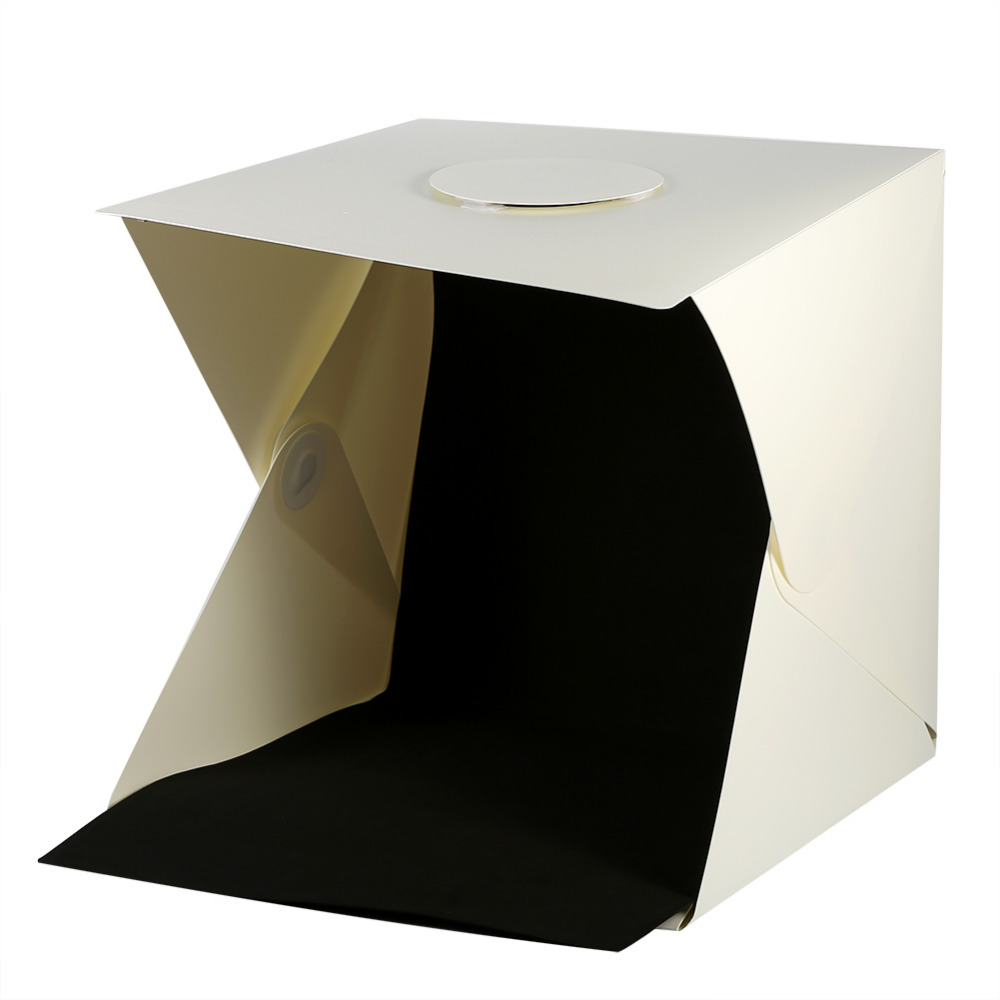 40 x 40 Studio Softbox Foldable High light Photo Box With White And Black Removable Background Tabletop Shooting