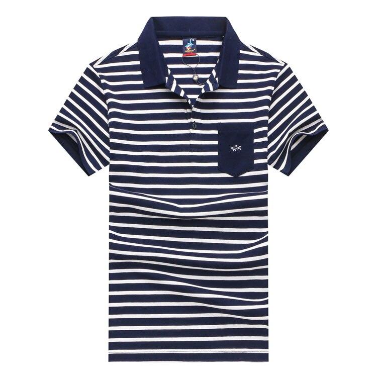 Blue Navy Poche T Col Librement Confort Tace 2018 Mode Gratuite D'été light Gentleman red Blue Rayé Couleur Shark Rabattu shirt Livraison Hommes amp; qwCUnH