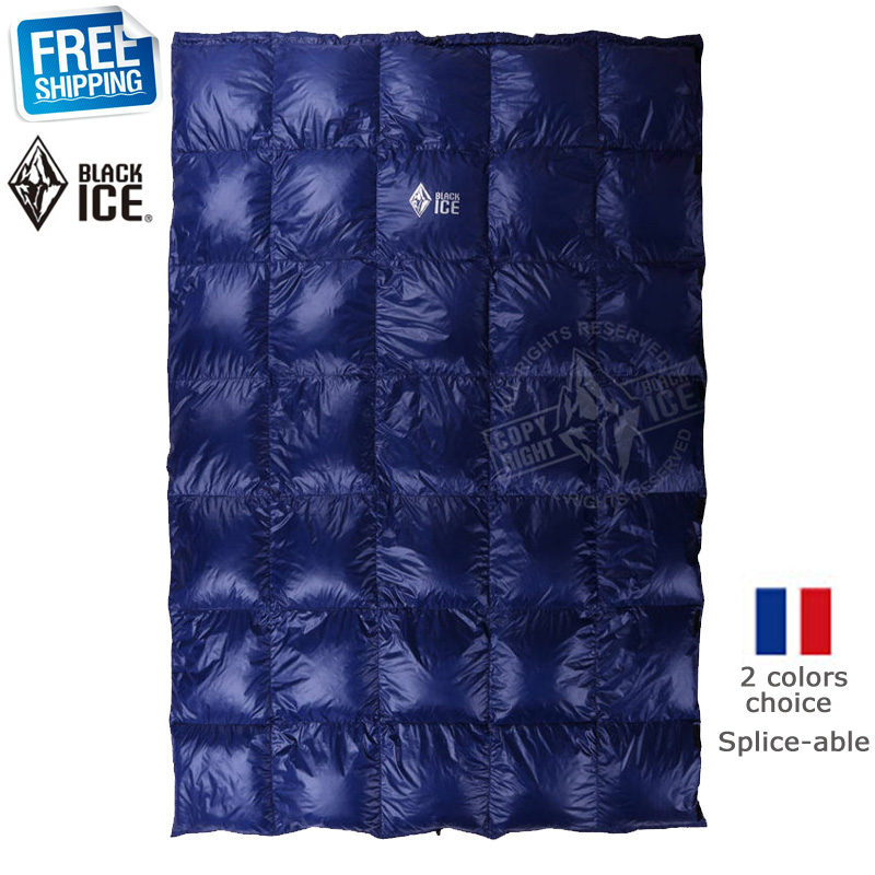 Black Ice Splicing Blue Red Ultra Light Goose Down Spring Summer Autumn Quilt Sleeping Bag In Bags From Sports Entertainment On Aliexpress