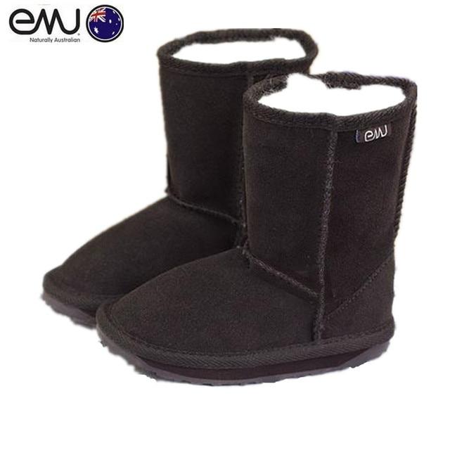 a6978fb4e709c Dzieci buty EMU 100% Wełna merino australii mouton zewnętrzna wewnętrzna z  Krowy-Zamsz Prawdziwej
