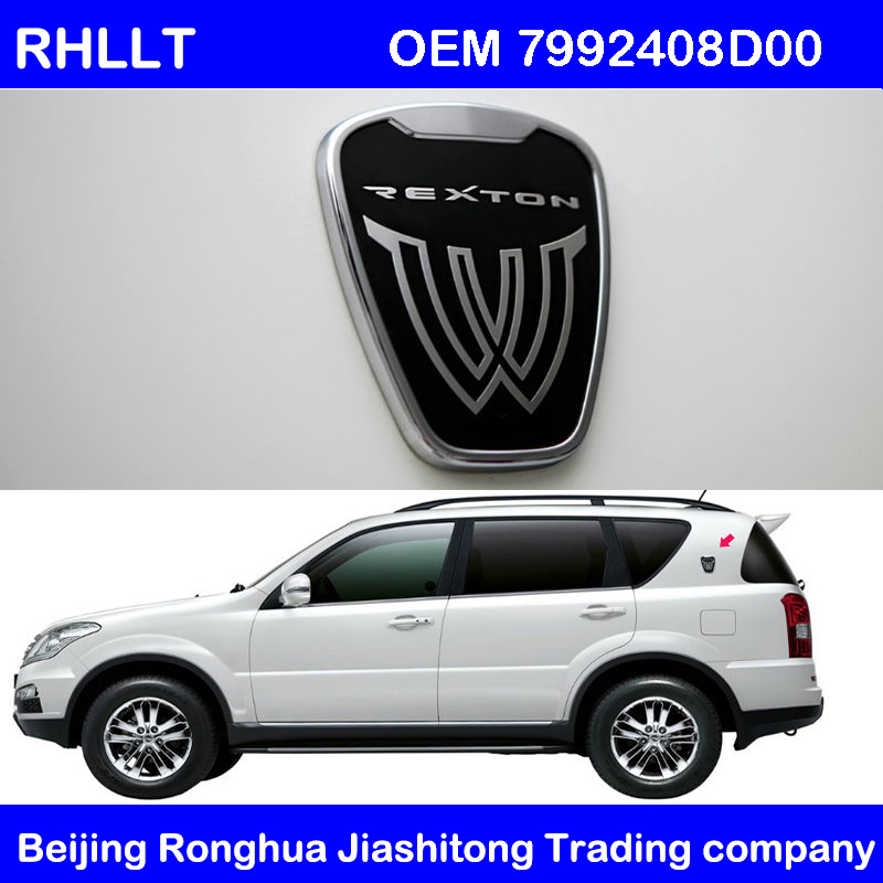 SSANGYONG REXTON 2007 2008 2009 2010 2011 2012 OEM Front Bonnet Wing Emblem