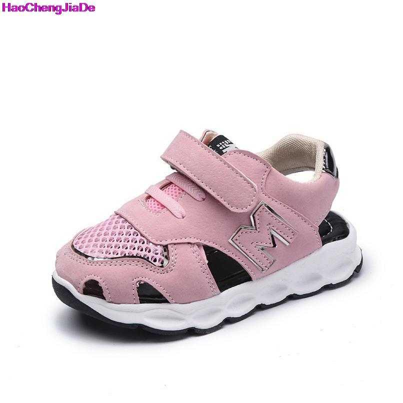HaoChengJiaDe 2018 Летний стиль бренд сетки детские сандалии для мальчиков и девочек