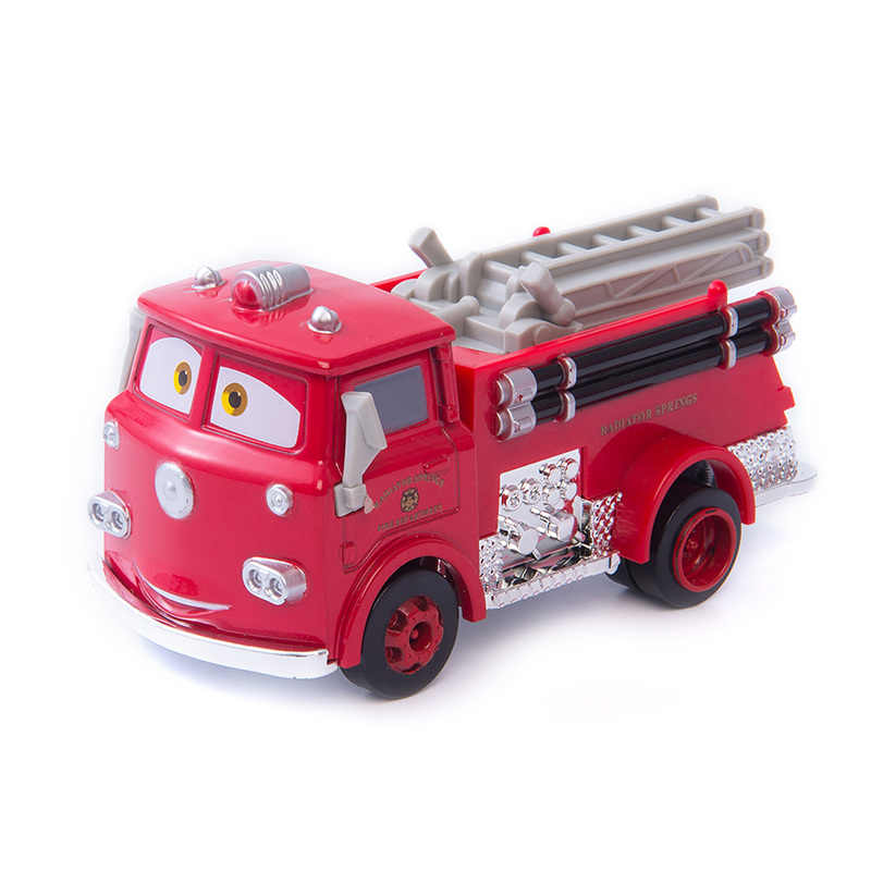 Disney Pixar Cars Red Fire Truck Rescue Car The King Jackson Storm Mater 1:55 Diecast Metal Alloy Model Christmas Gift Boys