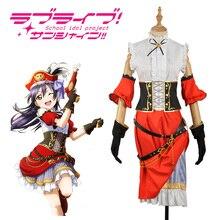 410376afb4ab13 LoveLive! Pirate Réveiller Umi Sonoda Cosplay Costume Halloween Uniforme  Ensemble Complet Sur Mesure(China