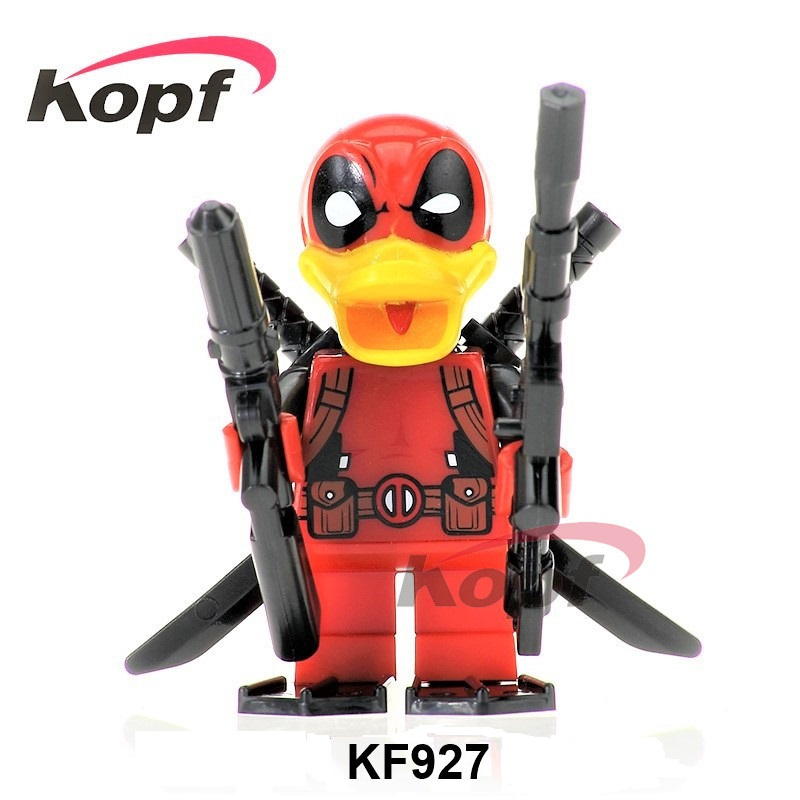 Single Sale Super Heroes Deadpool Duck She-Deadpool The Bride Falsh Toxin Rick Morty Building Blocks Children Gift Toys KF927