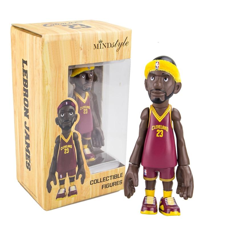 16 cm The Cleveland Cavaliers All-Star Basketballplayer Lebron James Figura de Acción Q Versión de Modo Para Regalo de Navidad