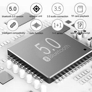 Image 5 - קסדת דבורה Bluetooth רמקול Fm רדיו Usb Mp3 TF חכם סאב כחול שן 5.0 נייד מיני אלחוטי סטריאו רמקולים