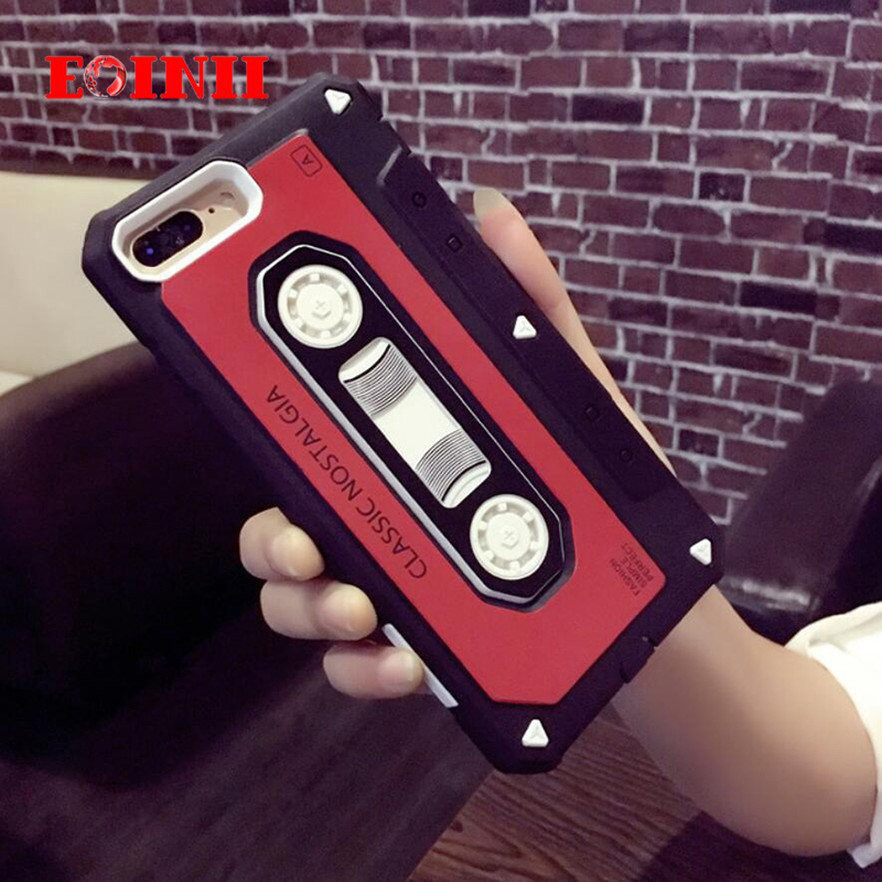 EOINII new Retro golden age nostalgic tape series Phone Case For iPhone 5s SE 5 TPU+PC Back Cover Cases
