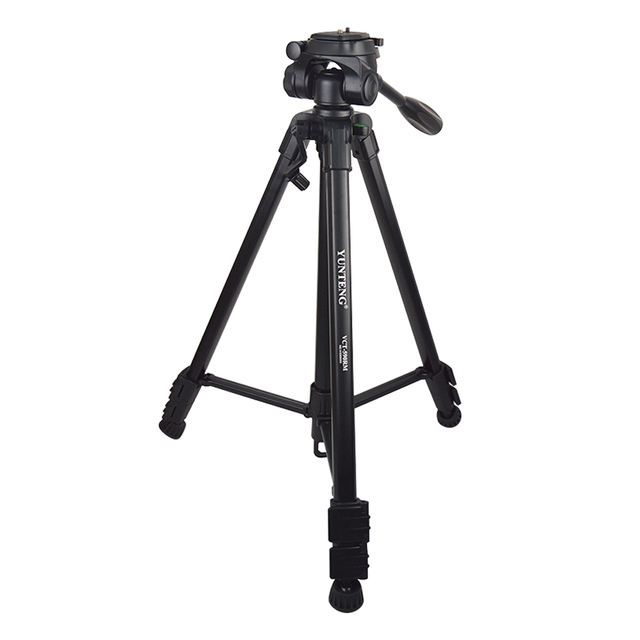 YUNTENG 590 VCT Tripod With Damping Head For Canon Nikon Sony Samsung Camera DSLR