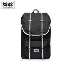 Men Backpack Black Laptop Backpacks Travel Soft Back Shoulder Bag Waterproof Oxford Material Plus Capacity 20.6 L S15005-9 8848