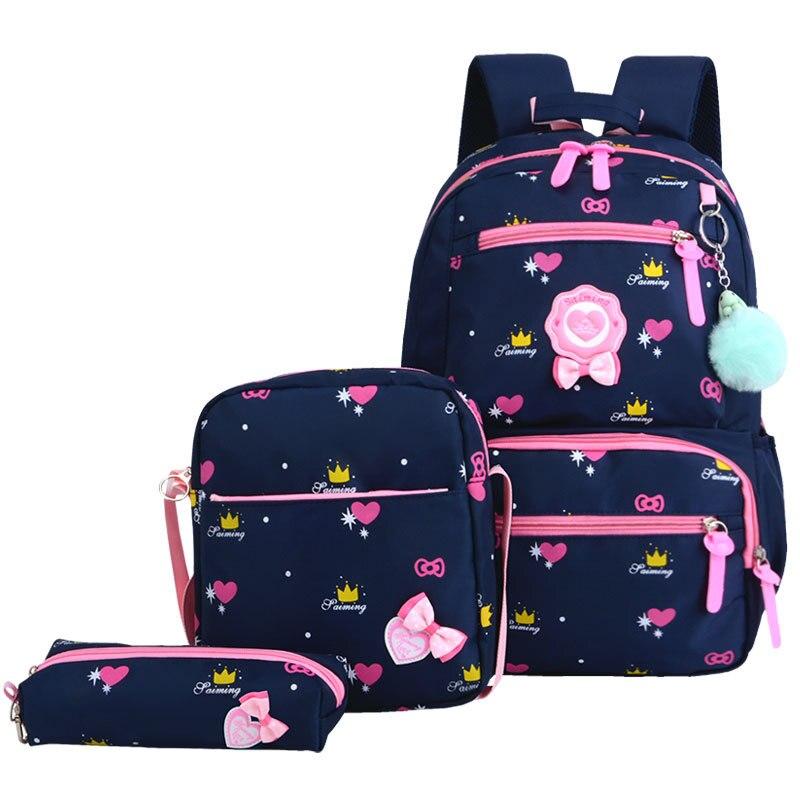 HEFLASHOR Children School Bags Girls School Backpack Schoolbags Kids Princess Backpack Primary School Backpack Mochila Infantil