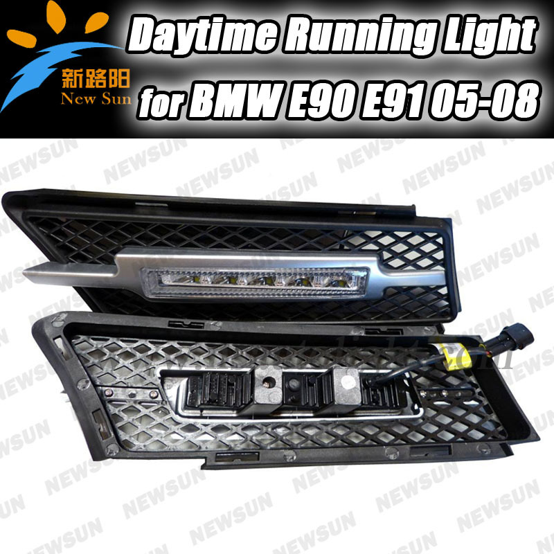 OEM Fit 10W High Power 5-LED Daytime Running Lights DRL Kit  for BMW 3 Series E90 E91 2005-2008 Driving Light LED Fog Light Lamp high quality light high power led daytime running lights for bmw e90 lci 3 series sedan 15w 2009 2012 freeshipping