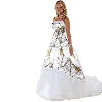 Realtree снег белый камуфляж выпускного платья 2017 долго халат шезлонг леди камуфляж партии dress custom make