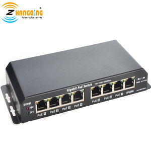 Image 2 - Gigabit Power Over Ethernet PoE Switch 7 PoE port +1 UPlink  Port For CCTV IP Camera WiFi Access point 24V 48V