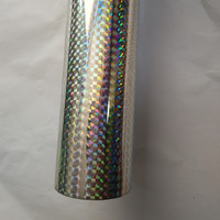 Holographic Foil Silver Color Check B02 Design Hot Stamping Foil Press On Paper Cards Or Plastic