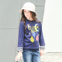 תחתון קריקטורה ילדה שרוול ארוך חולצת טריקו אופנה סתיו בגדי בנות ילדי חולצת טי 4 6 8 10 12 14