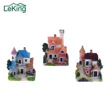 10 видов стилей миниатюрный замок из смолы мини пейзаж Сказочный садовый домик Декор Ремесло для украшения дома и сада