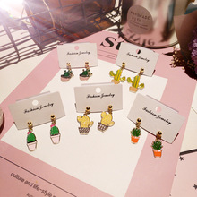 Korea New Handmade Cute Plated Cactus Drop Earring Fashion Jewelry Accessories-JQD5