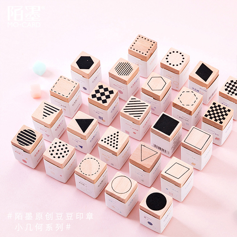 Cute Symbol Wood Stamp Set DIY Craft Wooden Rubber Stamps For Decoration Scrapbooking Stationery Scrapbooking Standard Stamp