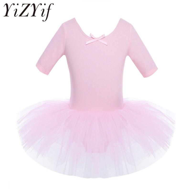 Ballet Long Sleeve Tutu Skirt Dress Kids Girls Gymnastic Dancewear Party Costume
