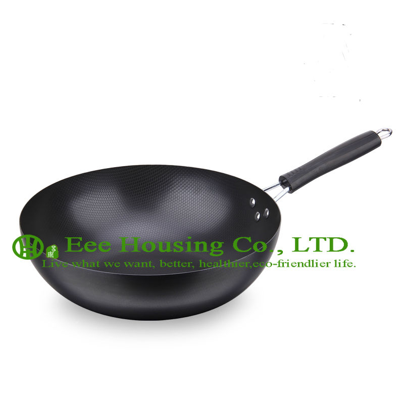 Refined Iron Cookware Kitchenware Cooking Set Free Shipping Fry Pan,non-smoking Non-stick Wok Withoutl Lid, Kitchen