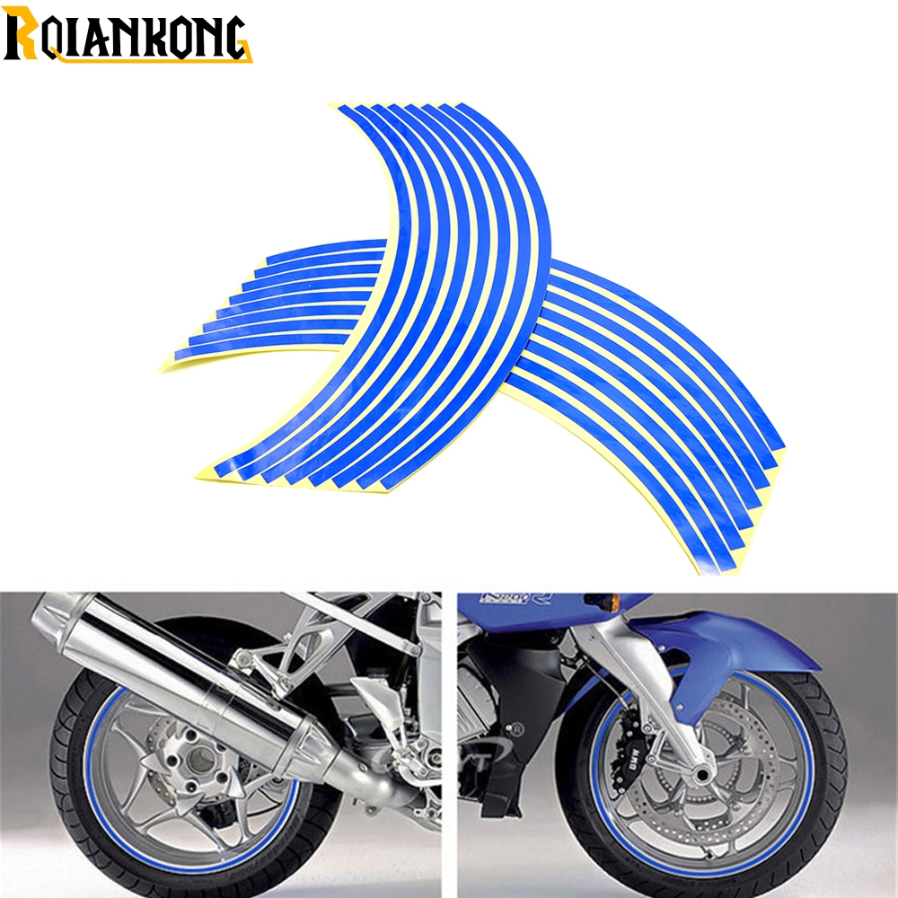For Honda CBR1100XX <font><b>CBR300R</b></font> CB300F FA CBR500R CB500F X motorcycle <font><b>sticker</b></font> Colorful motor wheel <font><b>stickers</b></font> Reflective Rim Strip image