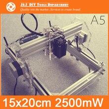 2500 mW Mocy Lasera, DIY Mini Laserowe Grawerowanie Maszyny, 15*20 cm Grawerowanie Obszar, Mini Maszyna Do Znakowania, zaawansowane Zabawki, najlepszy Prezent