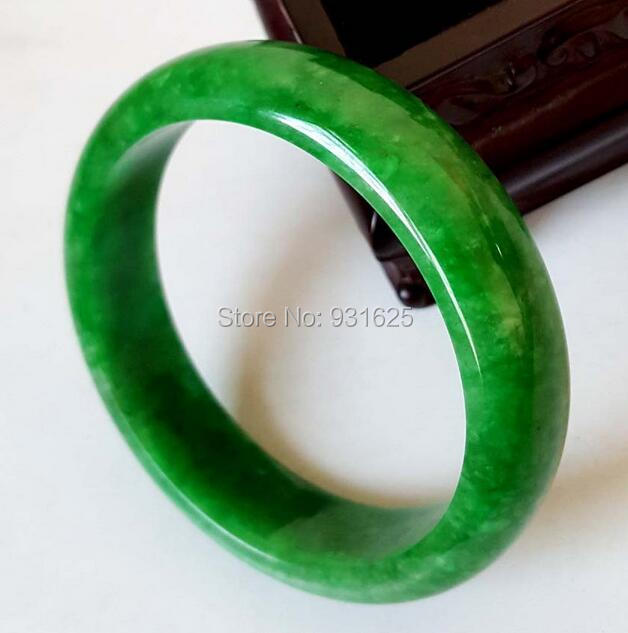 Beautiful Natural Green womans Bangle Fine Bracelet Handmade Fashion Womans Gift Bangles +certificate 58-62mmBeautiful Natural Green womans Bangle Fine Bracelet Handmade Fashion Womans Gift Bangles +certificate 58-62mm