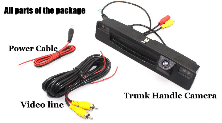 Liislee For Ford Focus 2015~2018 Trunk Handle  Car Rear View Rearview Camera Backup Reverse Parking Camera  Night Vision 8