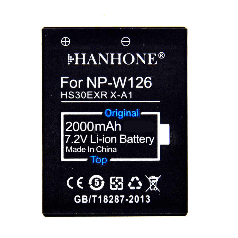 2 PCS 2000 mAh גבוהה קיבולת סוללה NP-W126 LED כפול מטען לfuji X-Pro1 XPro1 X-T1 XT1, HS30EXR HS33EXR X PRO1 X-PRO2 X-A2