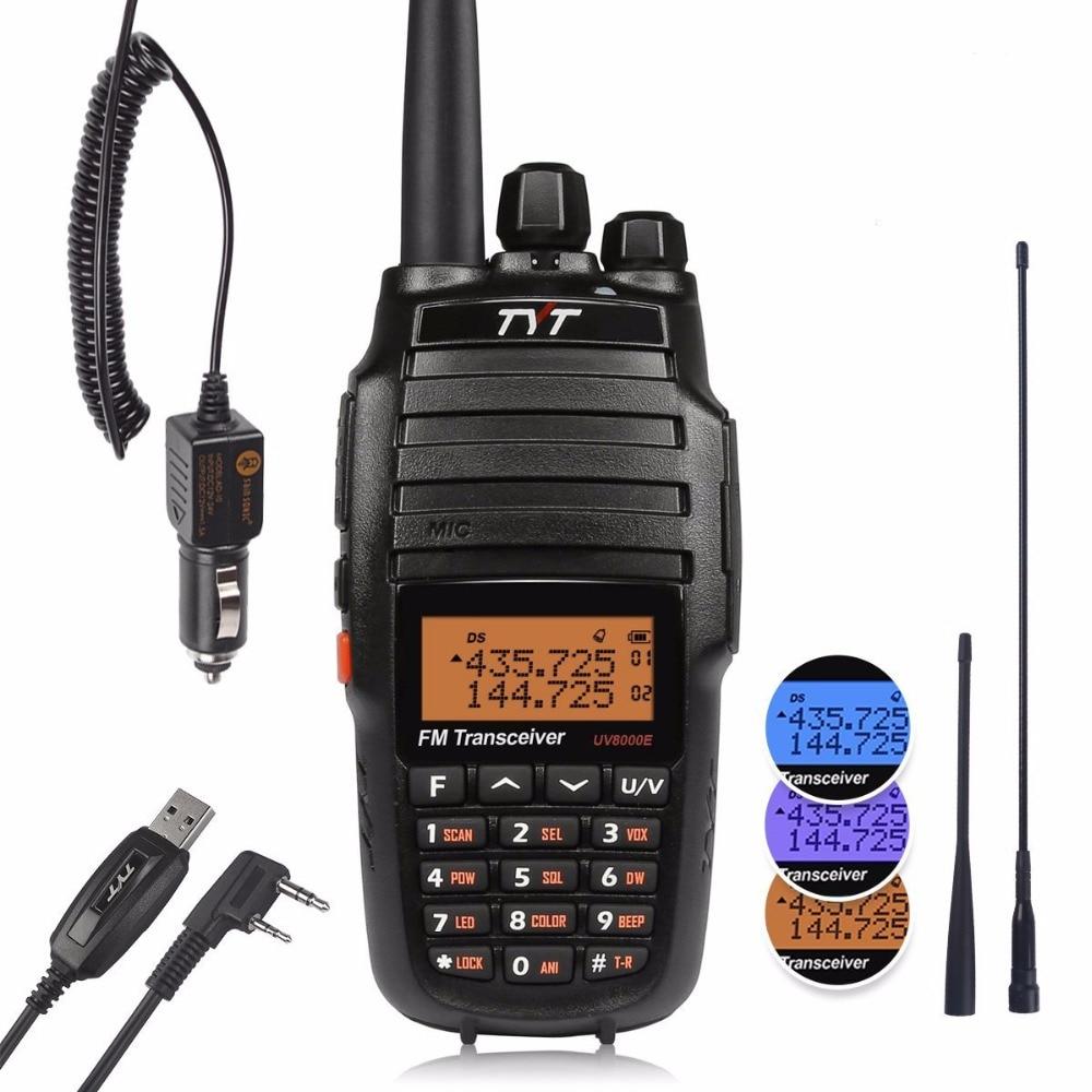 TYT UV8000E подвійний діапазон ручний 136-174 / 400-520 МГц три потужності 10 Вт поперечний діапазон ретранслятор 3600 мА приймач радіо радіостанції кабель