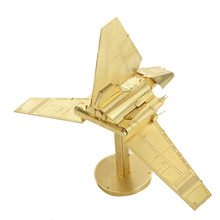 Star wars DIY 3D Models Imperial Shuttle Kits Metallic Nano Puzzle no glue required For adult Chirstmas gift free jigsaws
