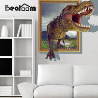 60 90cm 3d Dinosaur Wall Stickers Decals For Kids Rooms Art For Baby Nursery Room Christmas