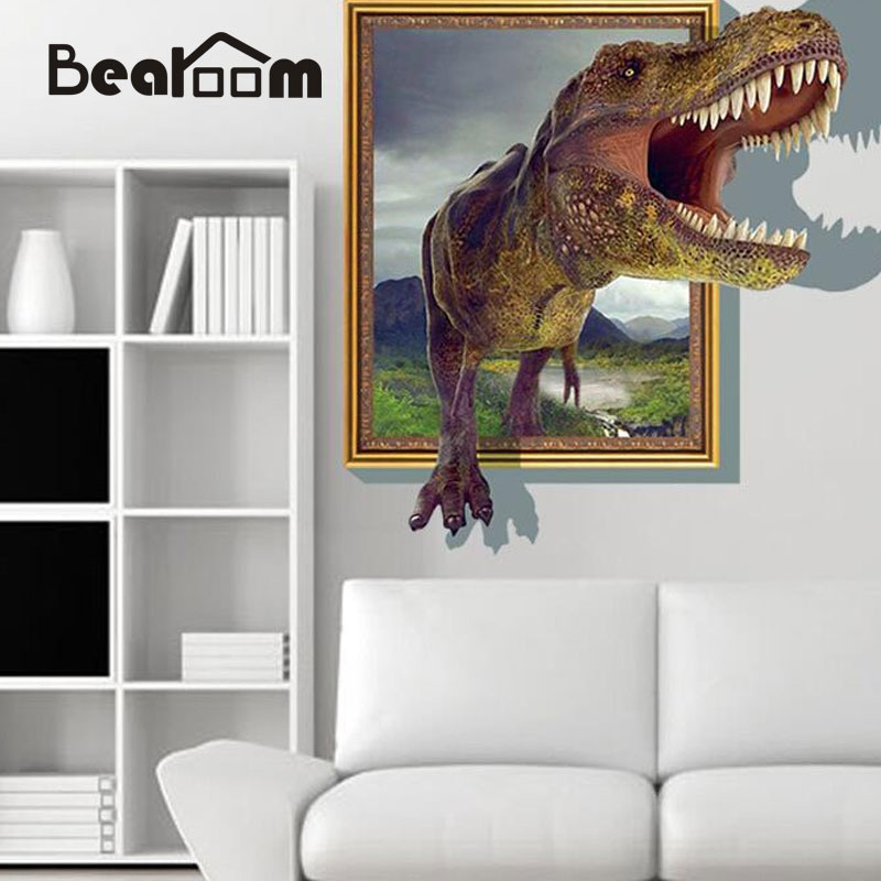 Online Buy Wholesale Dinosaur Wall Stickers From China Dinosaur - 3d dinosaur wall decals