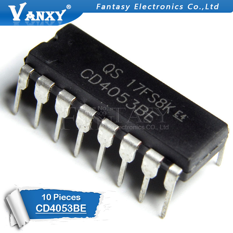 10PCS CD4053BE DIP16 CD4053 DIP 4053BE DIP-16 New And Original IC
