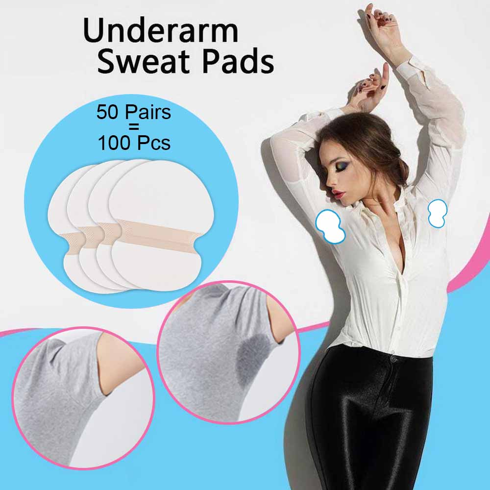 100/200/300/400pcs Disposable Underarm Sweat Pads For Armpit Perspiration Shield Absorbing Anti Summer Deodorants Sheet Stickers