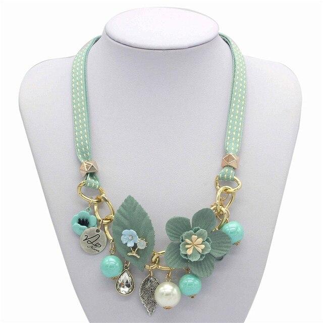 Olaru Brand Korea New Jewelry Fashion Cloth Imitation Flower Pearl Choker Neckalce Woman Maxi Statement Necklace Accessories 1