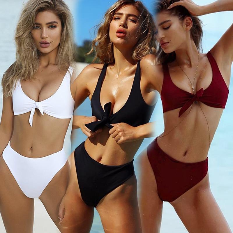 Bikini brésilien Sexy Biquini vêtements de plage maillots de bain femmes Mayo Maillot de bain Traje de bano mujer Maillot de bain Stroj Trikini Badpak