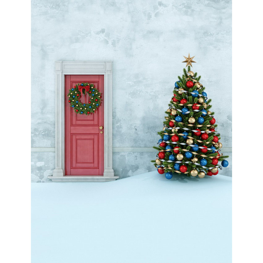 Customize vinyl cloth print snow Xmas view photo studio backgrounds for kids portrait photography photographic backdrops S-2475