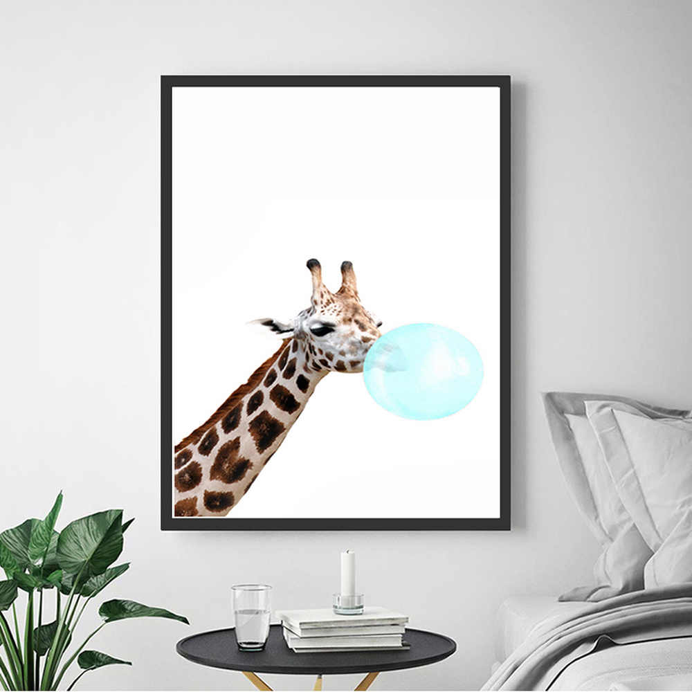 Canvas Painting Baby Room Decor Cute Animal Girafe Canvas Art Prints Poster Nordic Nursery Wall Pictures for Living Room Decor